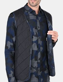 ARMANI EXCHANGE CAMO-LINED SLEEK TRENCH COAT Coat Man e