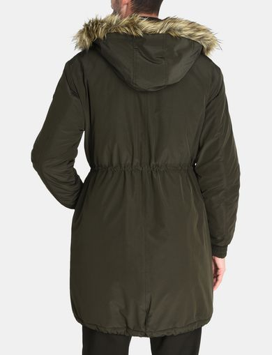 HOODED INSULATED FISHTAIL PARKA