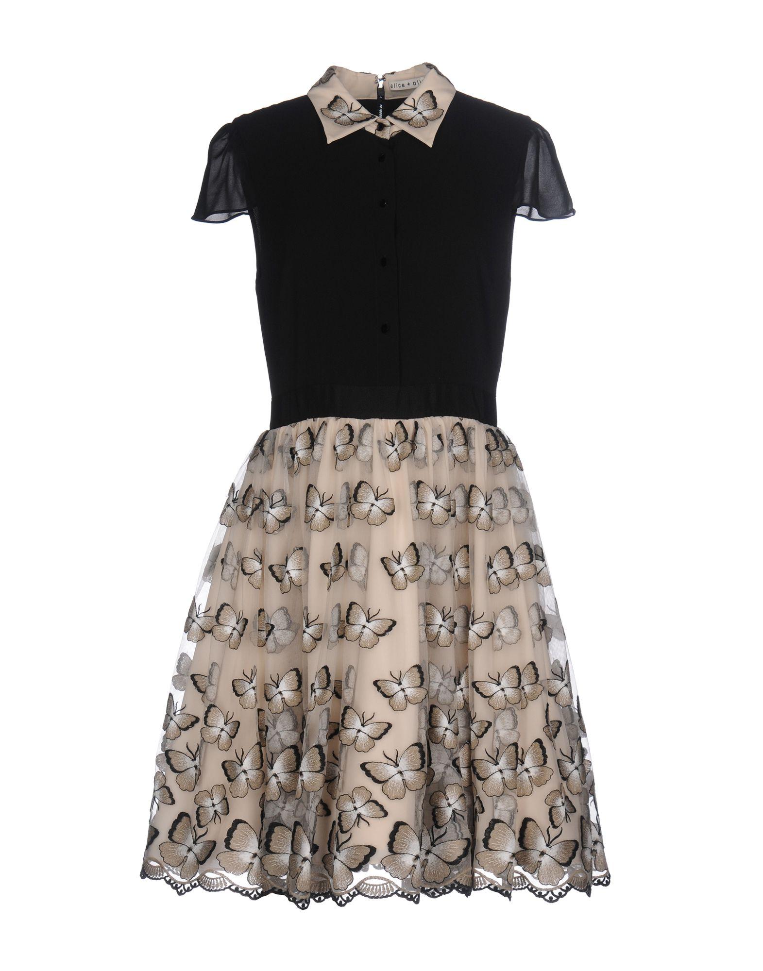ALICE + OLIVIA Короткое платье пальто alice olivia пальто короткие