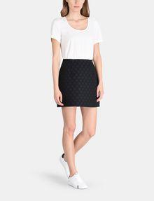 ARMANI EXCHANGE DOT JACQUARD TWOFER DRESS Mini dress Woman a