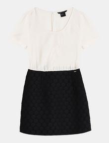 ARMANI EXCHANGE DOT JACQUARD TWOFER DRESS Mini dress Woman b