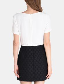 ARMANI EXCHANGE DOT JACQUARD TWOFER DRESS Mini dress Woman r