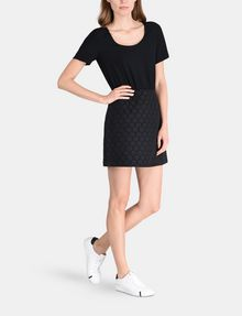 ARMANI EXCHANGE DOT JACQUARD TWOFER DRESS Mini dress Woman a