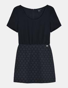 ARMANI EXCHANGE DOT JACQUARD TWOFER DRESS Minikleid Damen b