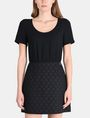 ARMANI EXCHANGE DOT JACQUARD TWOFER DRESS Mini dress Woman f