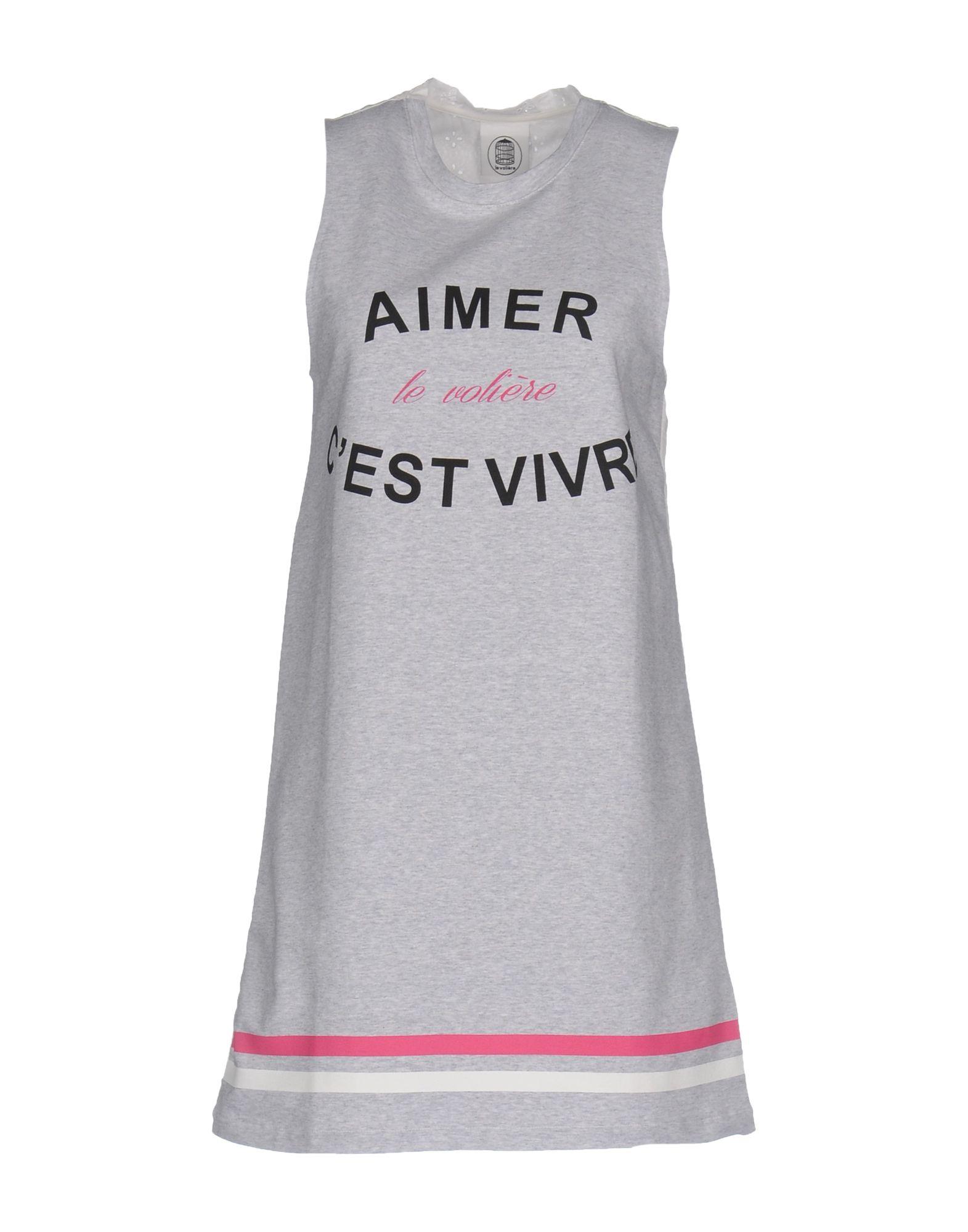 LE VOLIÈRE Короткое платье le volière майка