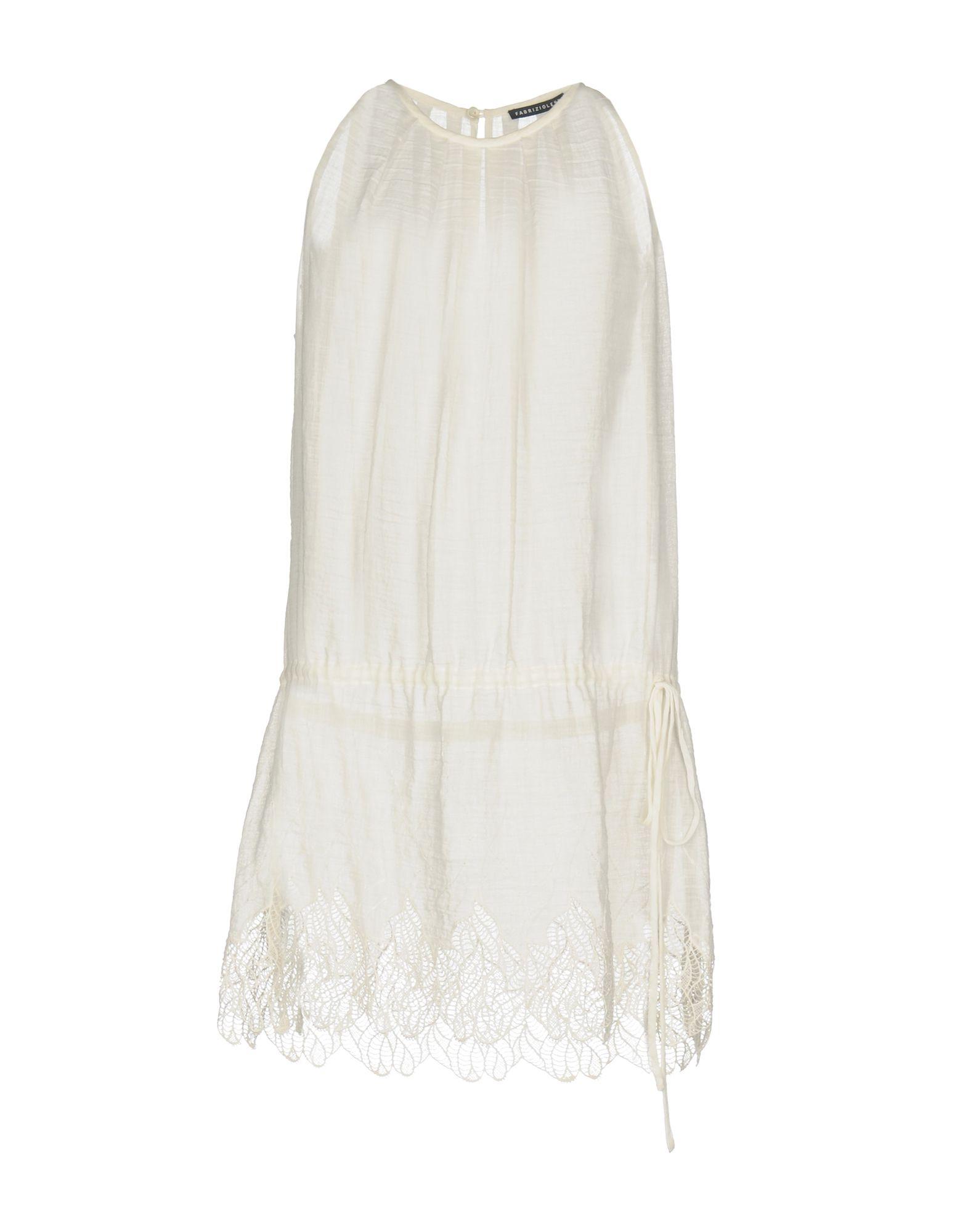 цена FABRIZIO LENZI Короткое платье онлайн в 2017 году