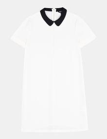 ARMANI EXCHANGE PETER PAN COLLAR SHIFT Mini dress Woman b