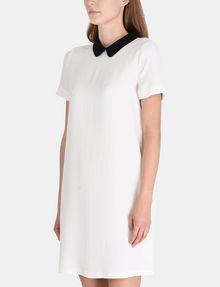 ARMANI EXCHANGE PETER PAN COLLAR SHIFT Mini dress Woman d