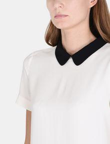 ARMANI EXCHANGE PETER PAN COLLAR SHIFT Mini dress Woman e