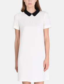 ARMANI EXCHANGE PETER PAN COLLAR SHIFT Mini dress Woman f