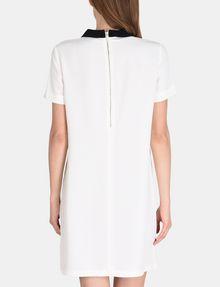 ARMANI EXCHANGE PETER PAN COLLAR SHIFT Mini dress Woman r