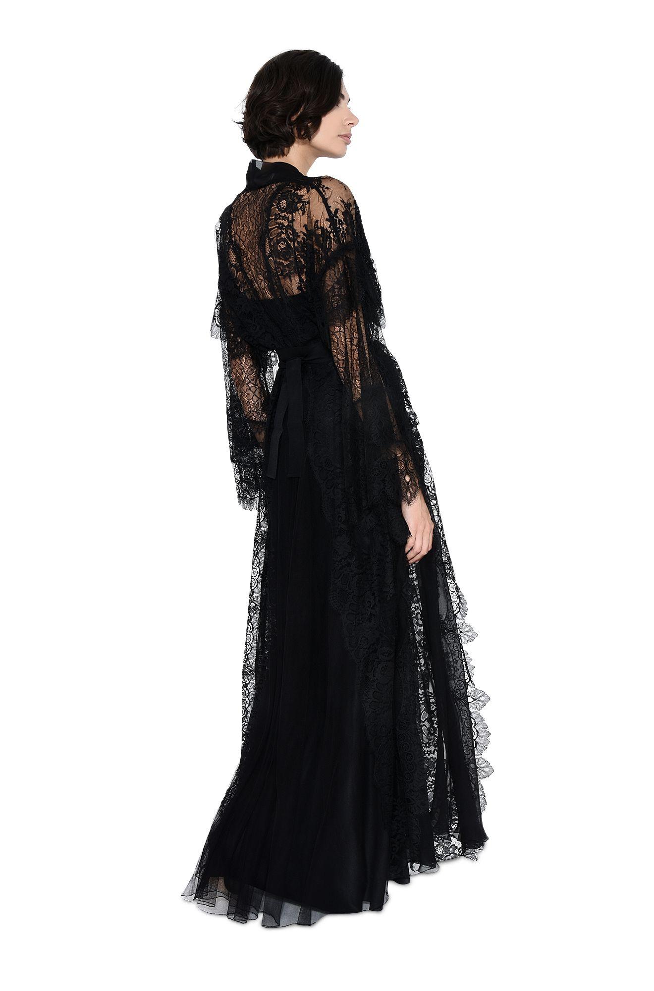 ALBERTA FERRETTI Langes Kleid D Langes Kleid mit Rüschen r