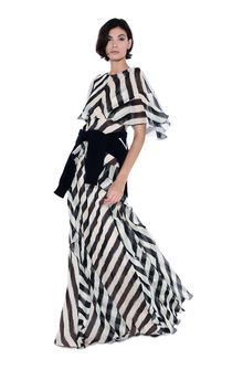 ALBERTA FERRETTI Long striped dress Long Dress Woman a