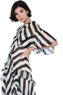 ALBERTA FERRETTI Long striped dress Long Dress Woman d