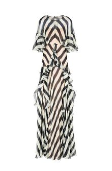 ALBERTA FERRETTI Long striped dress Long Dress D e