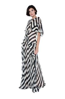 ALBERTA FERRETTI Long striped dress Long Dress Woman f