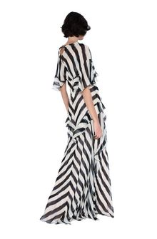 ALBERTA FERRETTI Long striped dress Long Dress Woman r