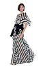 ALBERTA FERRETTI Long striped dress Long Dress D a