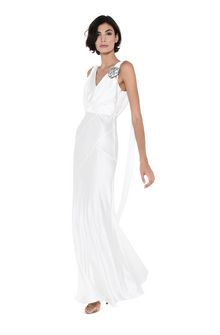 ALBERTA FERRETTI DIVA WHITE DRESS Long Dress D a