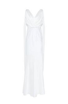 ALBERTA FERRETTI DIVA WHITE DRESS Long Dress Woman d
