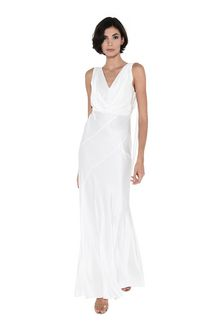 ALBERTA FERRETTI DIVA WHITE DRESS Long Dress Woman f