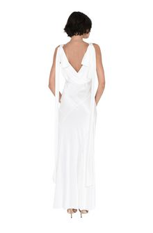 ALBERTA FERRETTI DIVA WHITE DRESS Long Dress Woman r