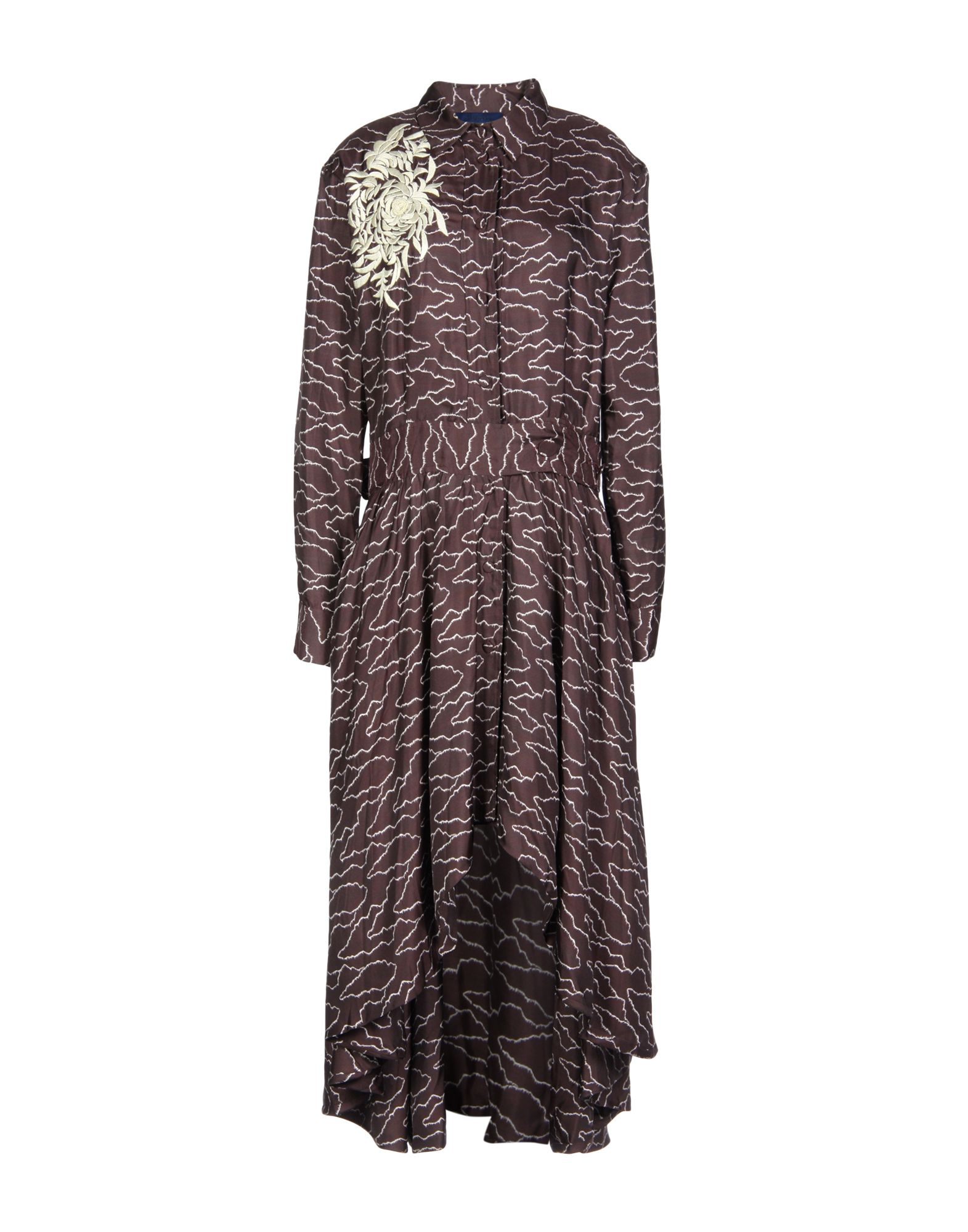 SHARON WAUCHOB Midi Dress in Deep Purple