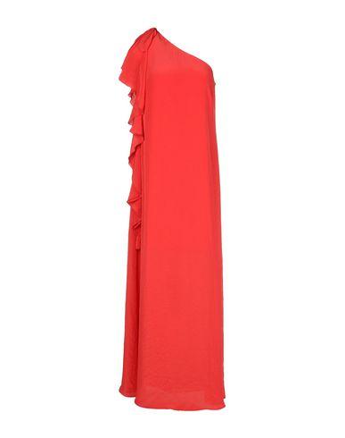 Фото - Женское длинное платье  кораллового цвета