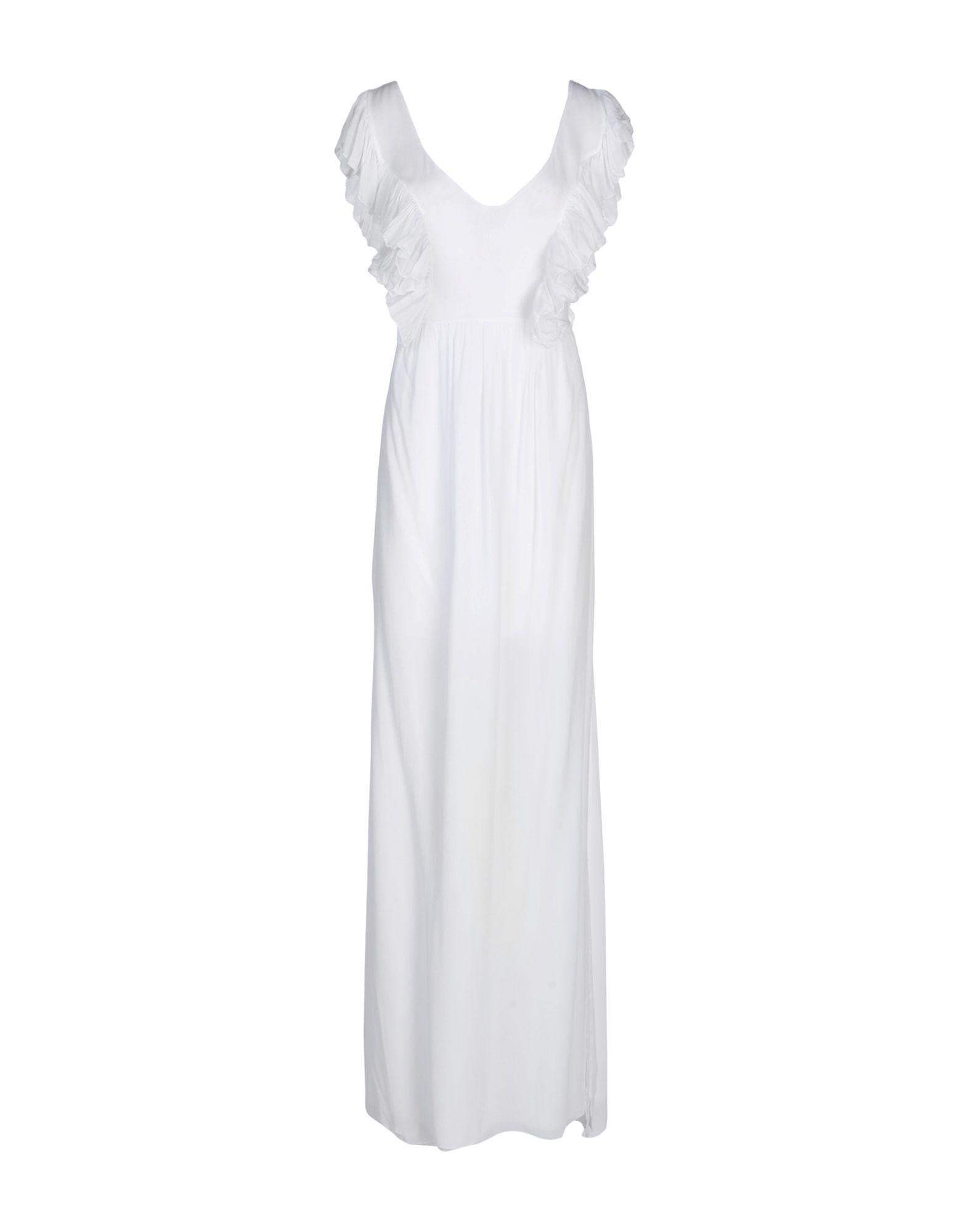 PINK MEMORIES Damen Langes Kleid Farbe Weiß Größe 5