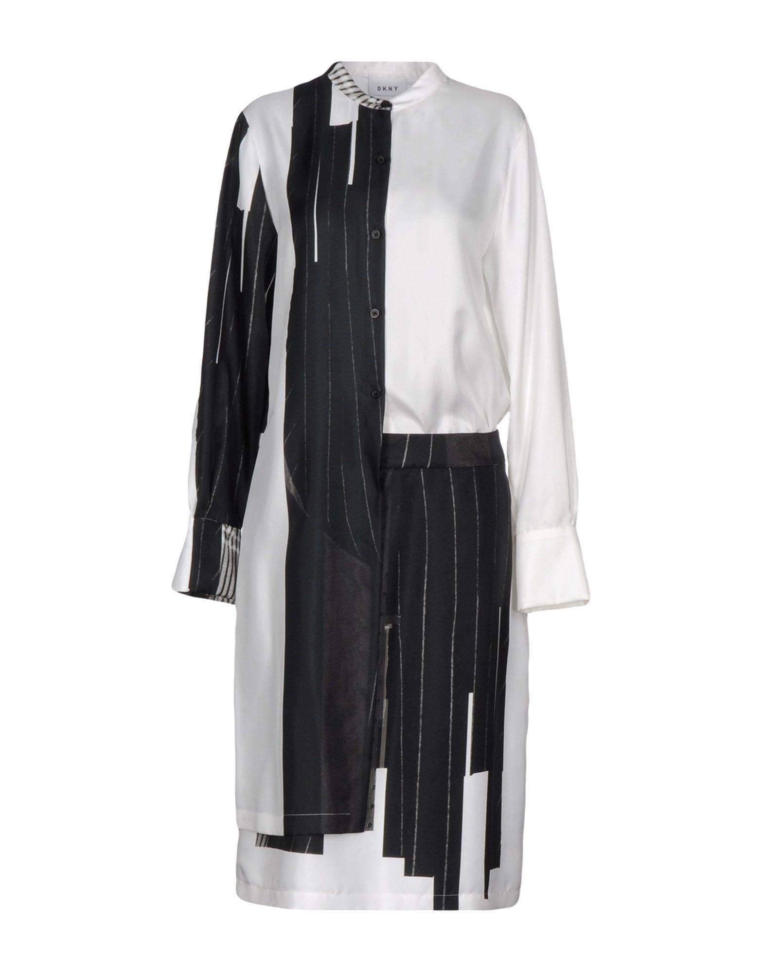 цена  DKNY Платье до колена  онлайн в 2017 году