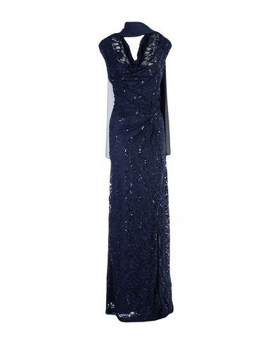 Фото - Женское длинное платье MUSANI COUTURE темно-синего цвета