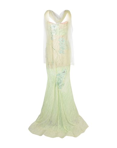 Фото 2 - Женское длинное платье MUSANI COUTURE светло-зеленого цвета