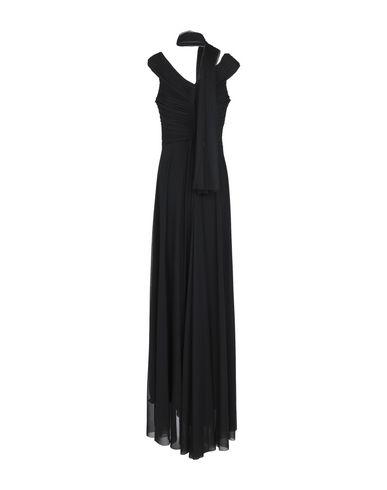 Фото 2 - Женское длинное платье MUSANI COUTURE черного цвета