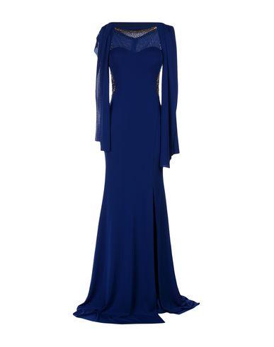 Фото - Женское длинное платье MUSANI GOLD темно-синего цвета