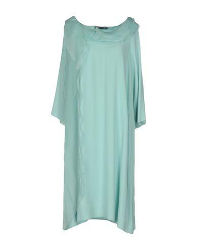 Фото - Женское короткое платье BOTONDI MILANO бирюзового цвета