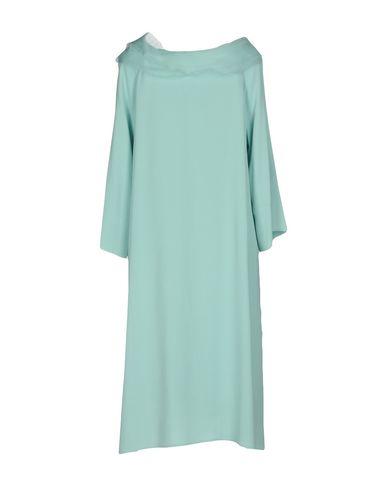 Фото 2 - Женское короткое платье BOTONDI MILANO бирюзового цвета