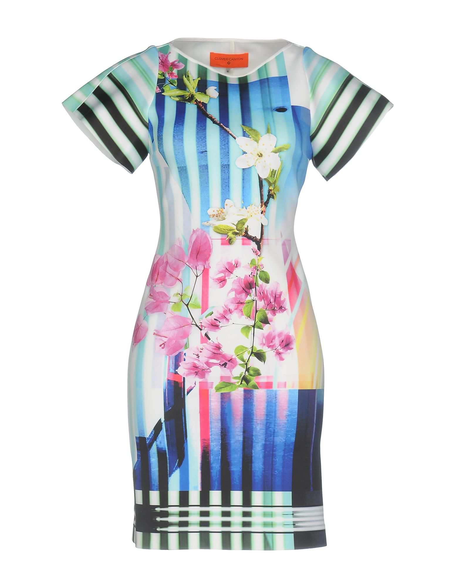 цена CLOVER CANYON Короткое платье онлайн в 2017 году