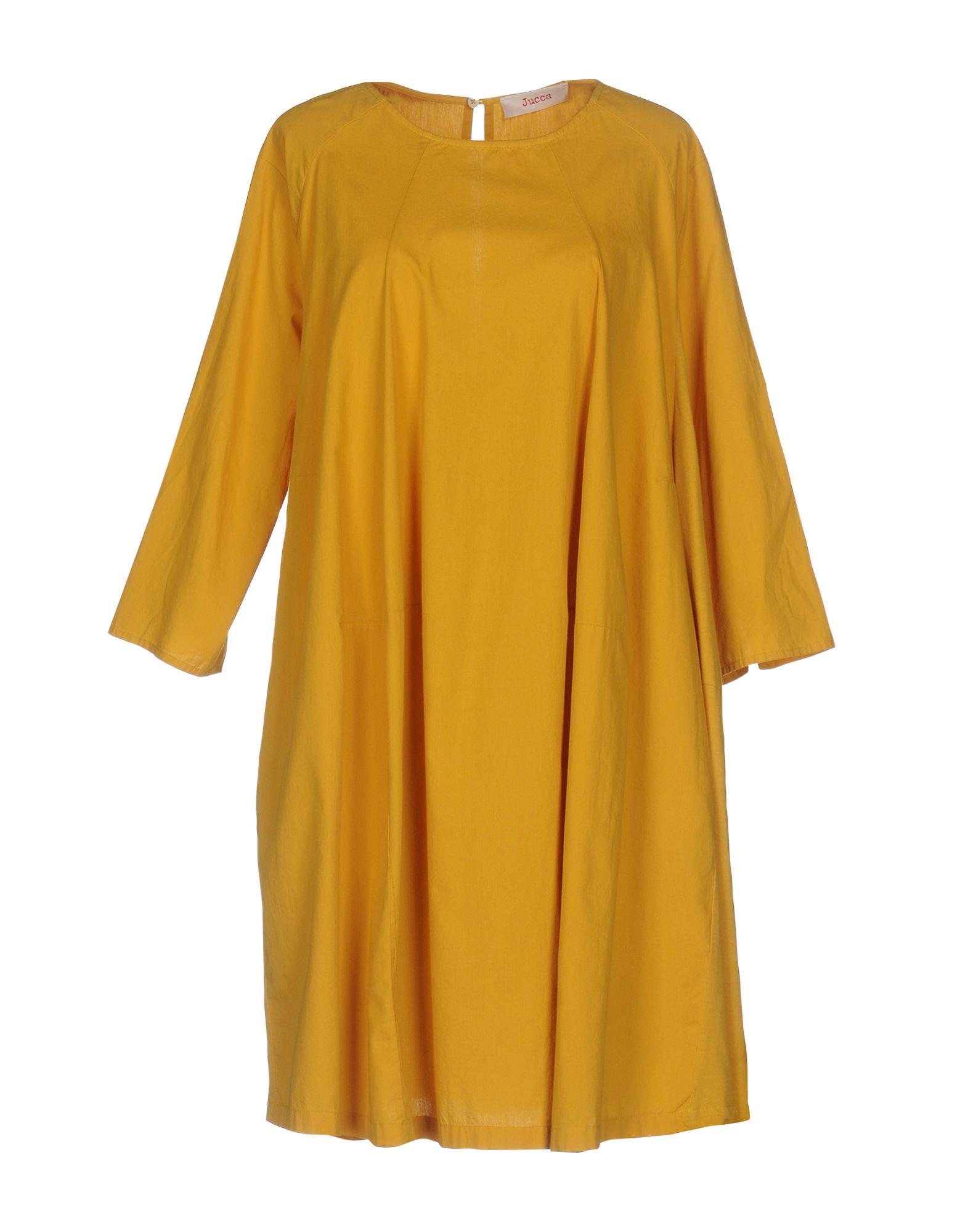 JUCCA Damen Kurzes Kleid Farbe Ocker Größe 5 jetztbilligerkaufen