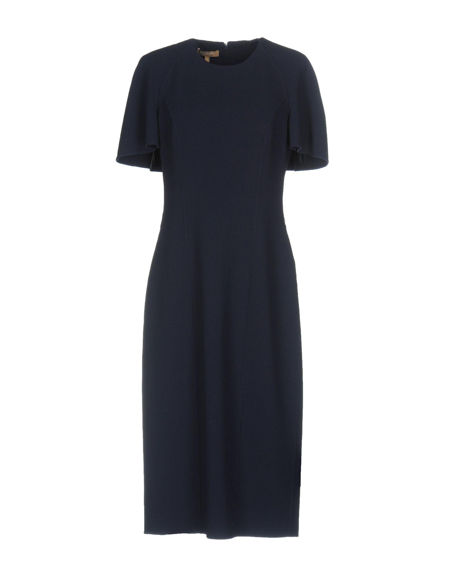 MICHAEL KORS COLLECTION Damen Knielanges Kleid Farbe Dunkelblau Größe 4 jetztbilligerkaufen