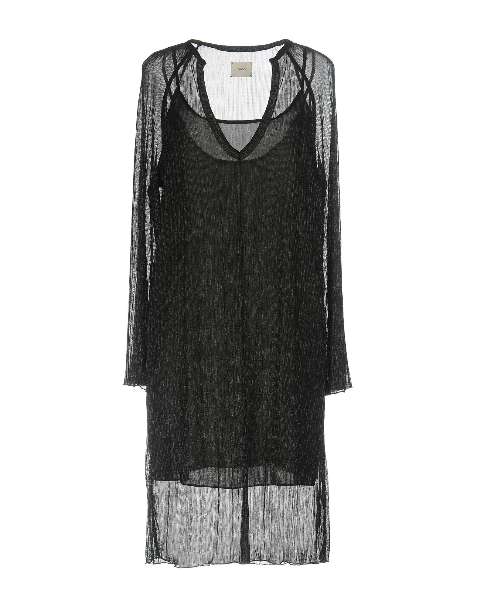 ..,MERCI Damen Knielanges Kleid Farbe Schwarz Größe 4 jetztbilligerkaufen