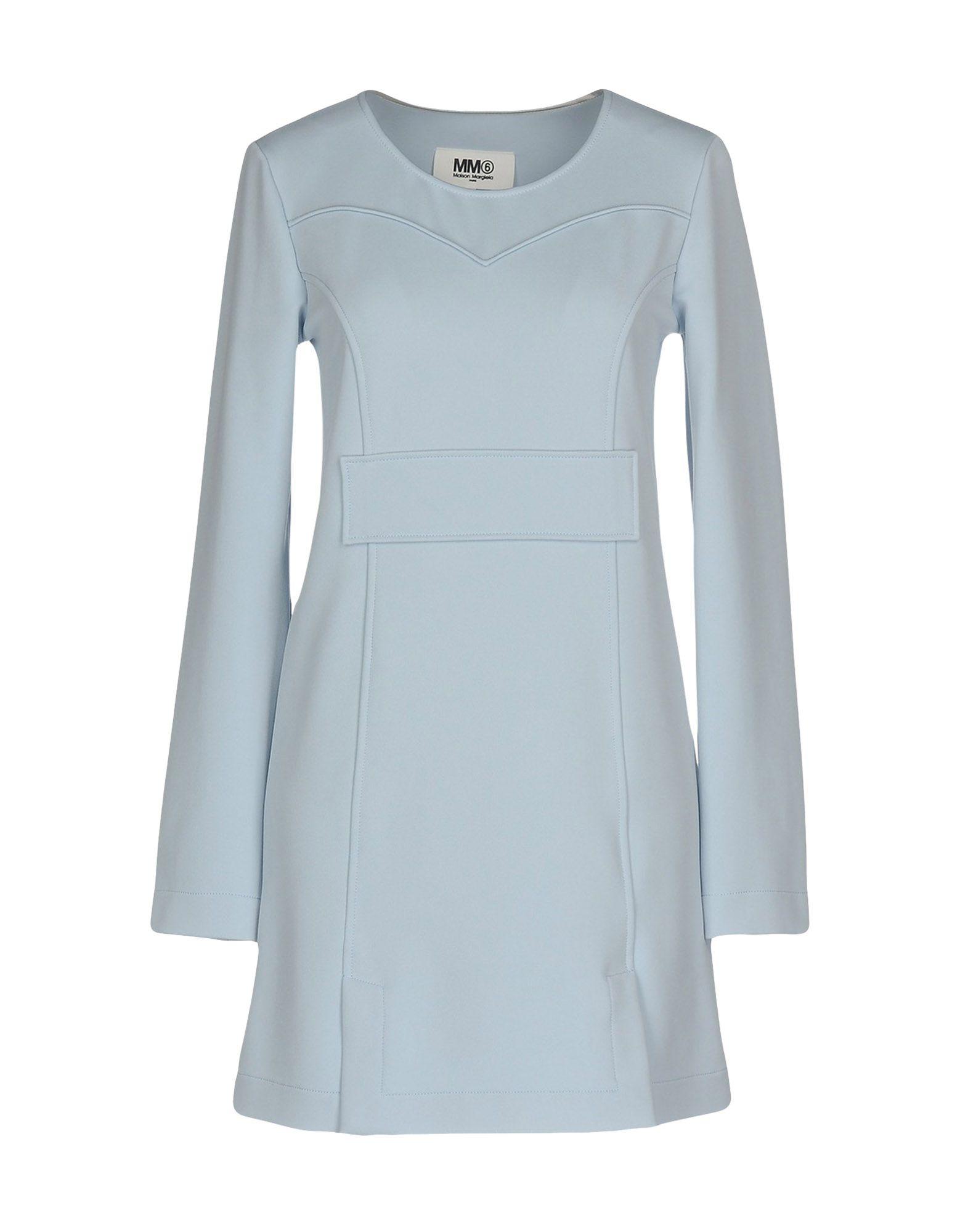 MM6 MAISON MARGIELA Damen Kurzes Kleid Farbe Himmelblau Größe 5 jetztbilligerkaufen