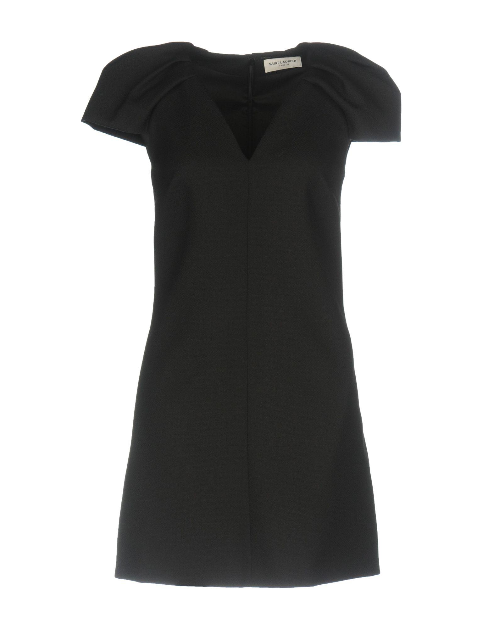 SAINT LAURENT Damen Kurzes Kleid Farbe Schwarz Größe 5 jetztbilligerkaufen