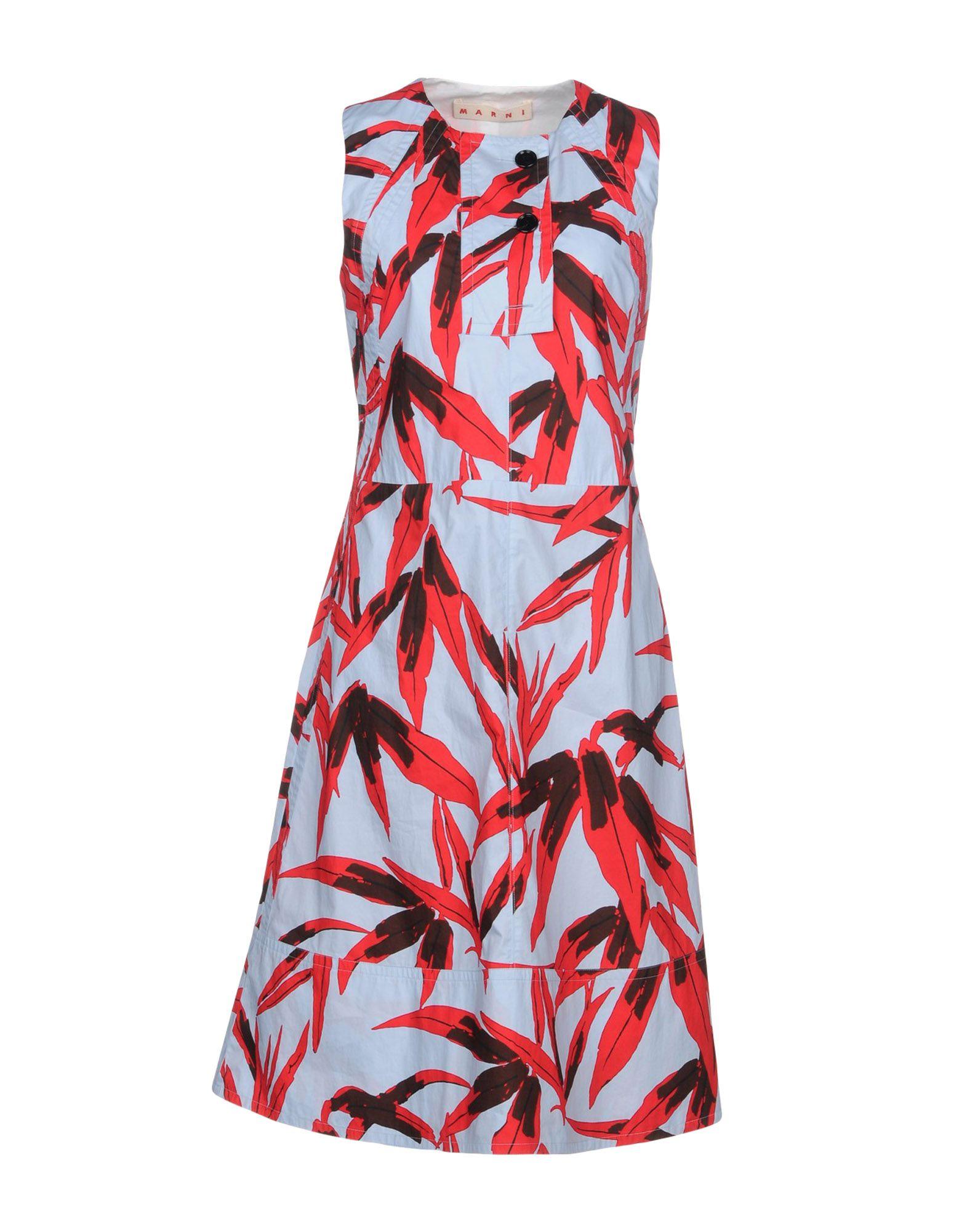 MARNI Damen Knielanges Kleid Farbe Himmelblau Größe 3 jetztbilligerkaufen