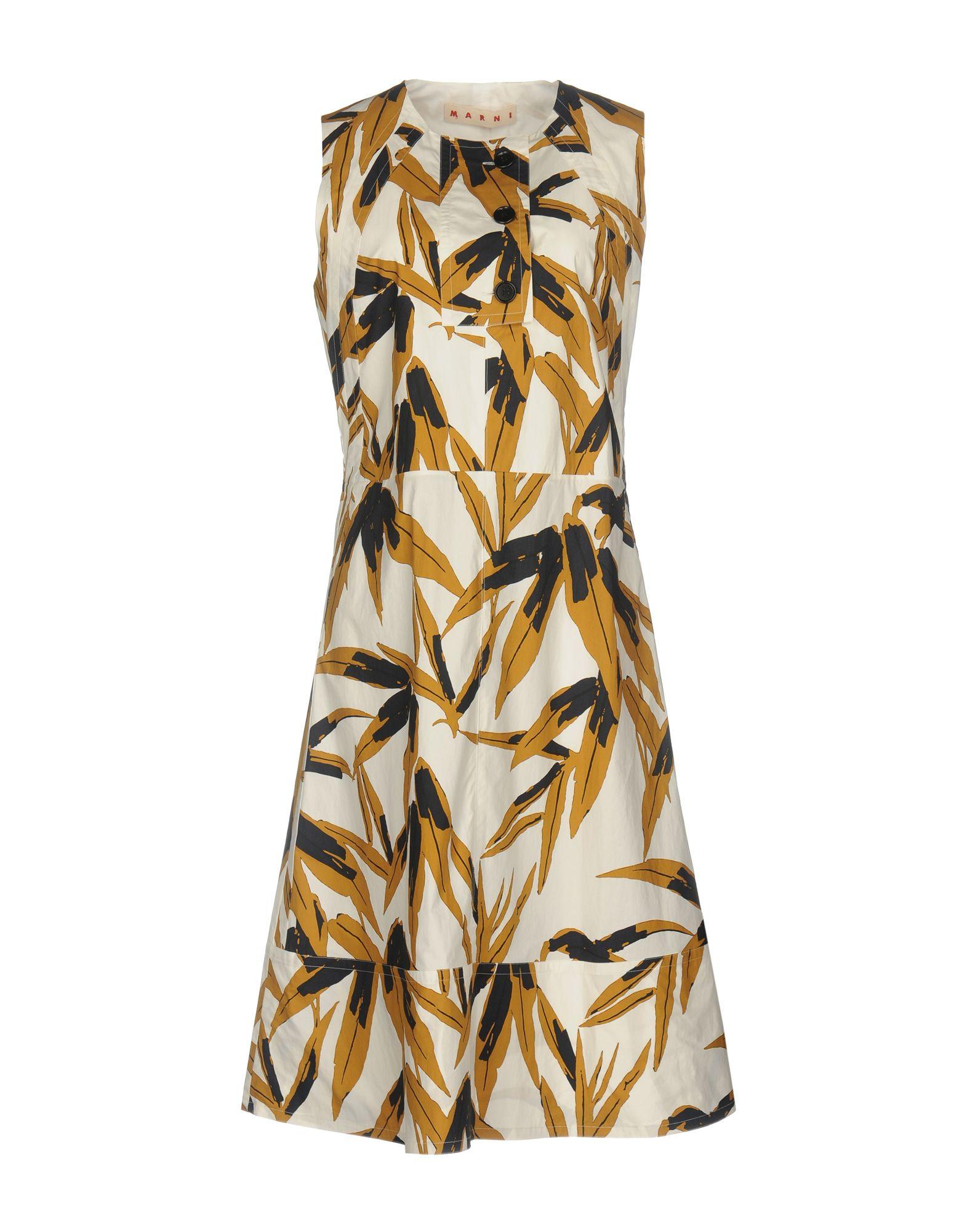 MARNI Damen Knielanges Kleid Farbe Elfenbein Größe 6 jetztbilligerkaufen