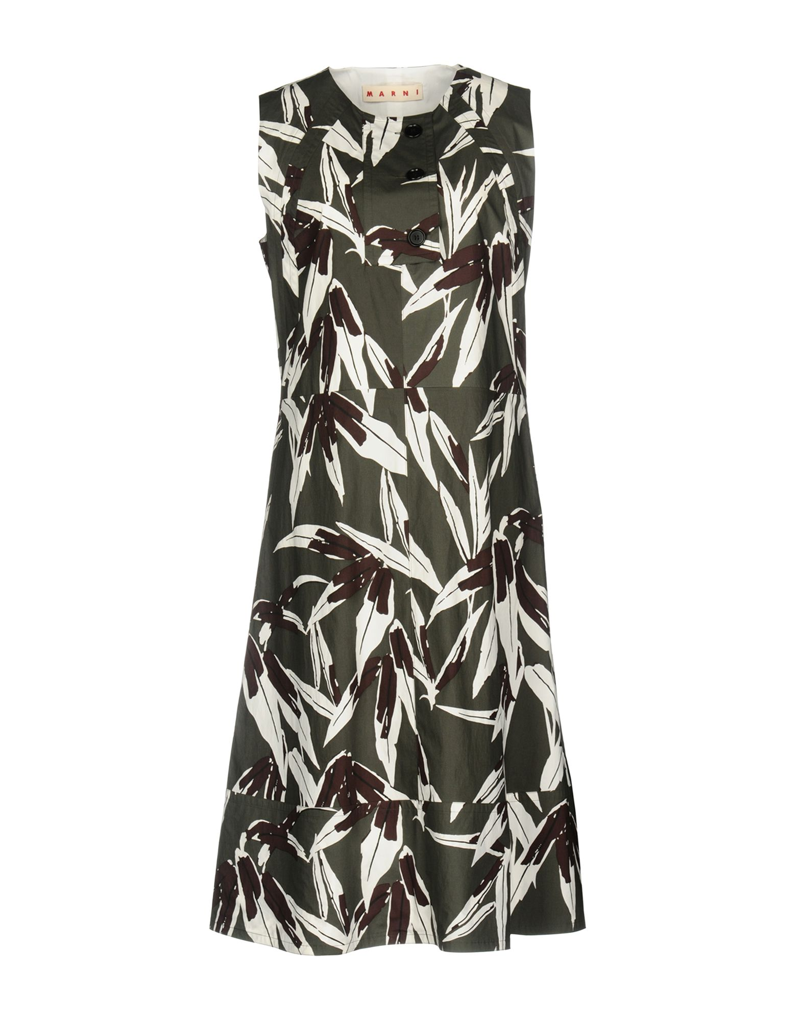 MARNI Damen Knielanges Kleid Farbe Militärgrün Größe 5 jetztbilligerkaufen