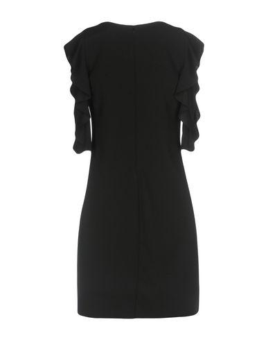 Фото 2 - Женское короткое платье NO-NÀ черного цвета