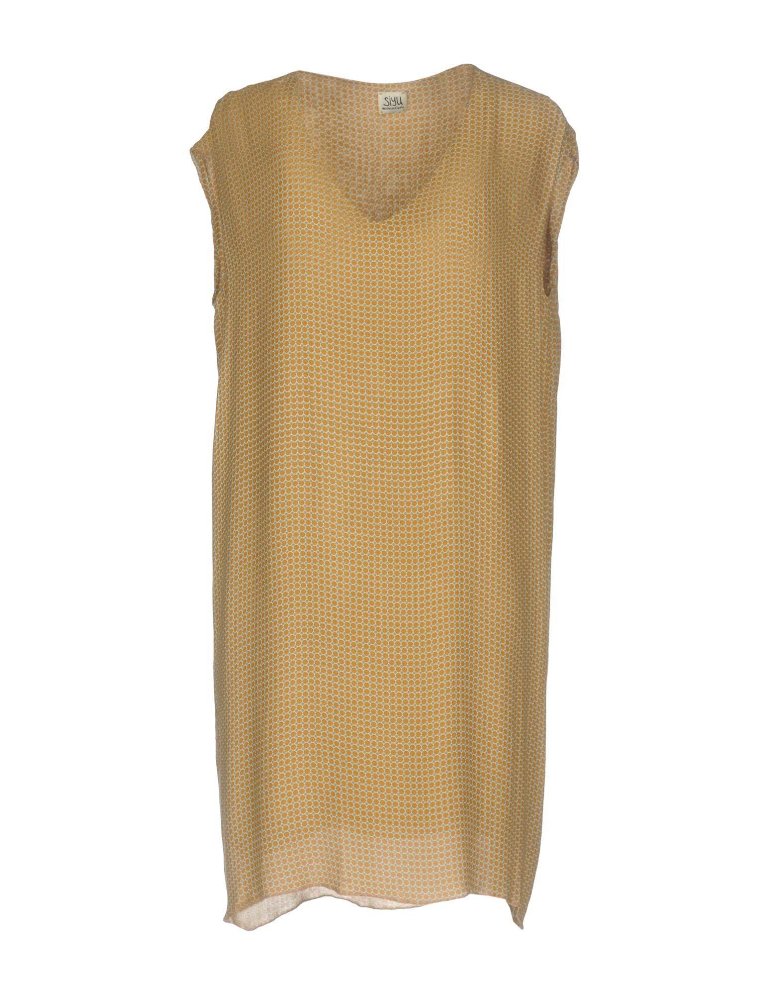 SIYU Damen Kurzes Kleid Farbe Kamel Größe 4 jetztbilligerkaufen