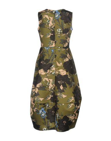 Фото 2 - Платье до колена от NO-NÀ цвет зеленый-милитари