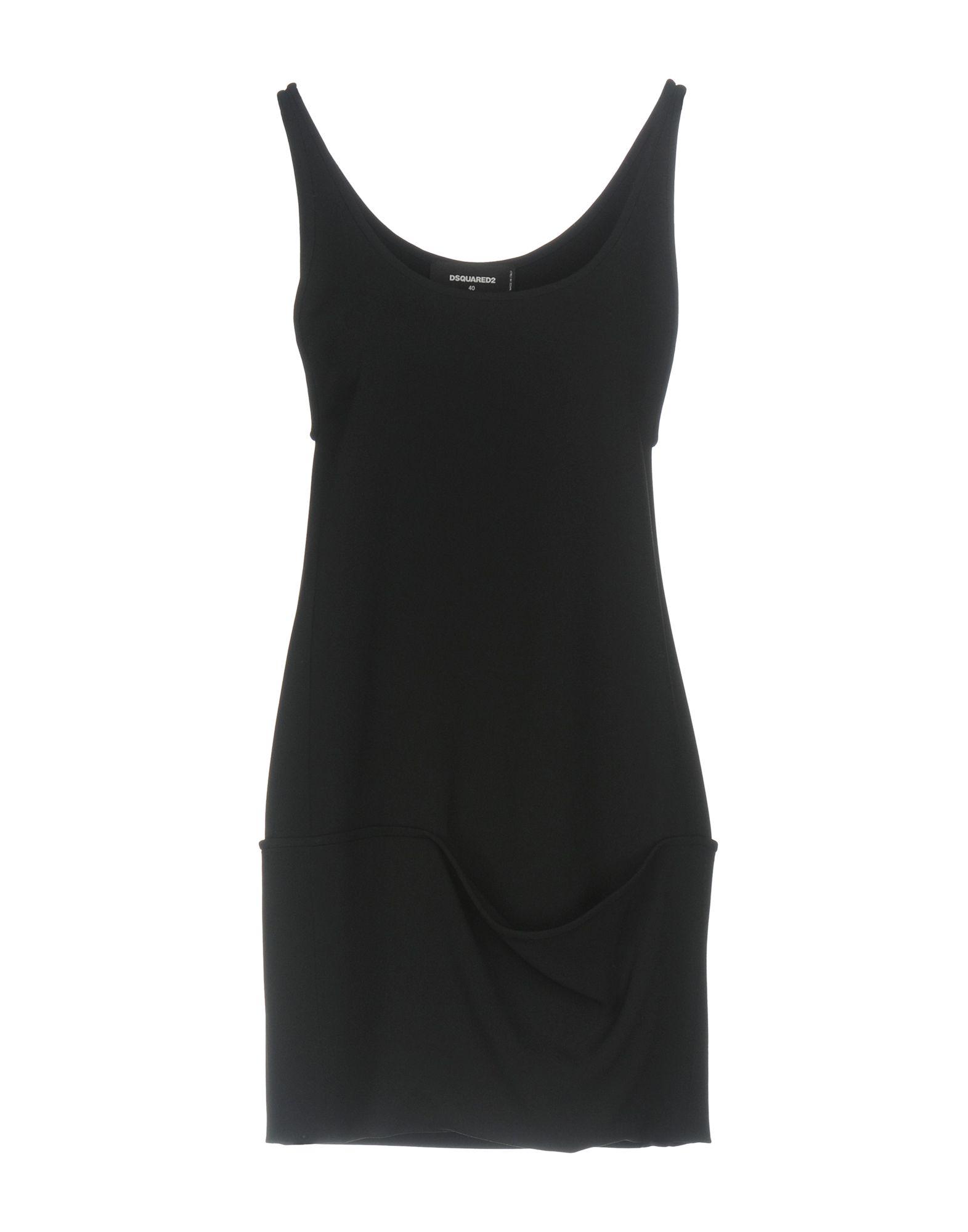 DSQUARED2 Damen Kurzes Kleid Farbe Schwarz Größe 5 jetztbilligerkaufen